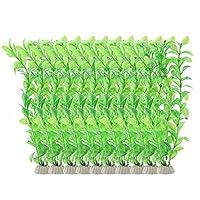10個人工水草 、25Cm プラスチック シミュレーションウォーターグラス 装飾的な魚タンク 水族(1)