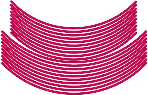 エムディーエフ(MDF) リムストライプ ソリッドタイプ ピンク 【文字なし 無地】 6mm幅 17&19インチ RIM-6M-PK-17&19N