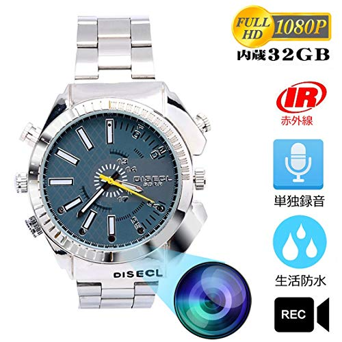 HD 1080P 腕時計型防水ビデオカメラ 32GB Q-Yuan 録画録音撮影 高音質マイク 日時設定機能 日本語説明書付き