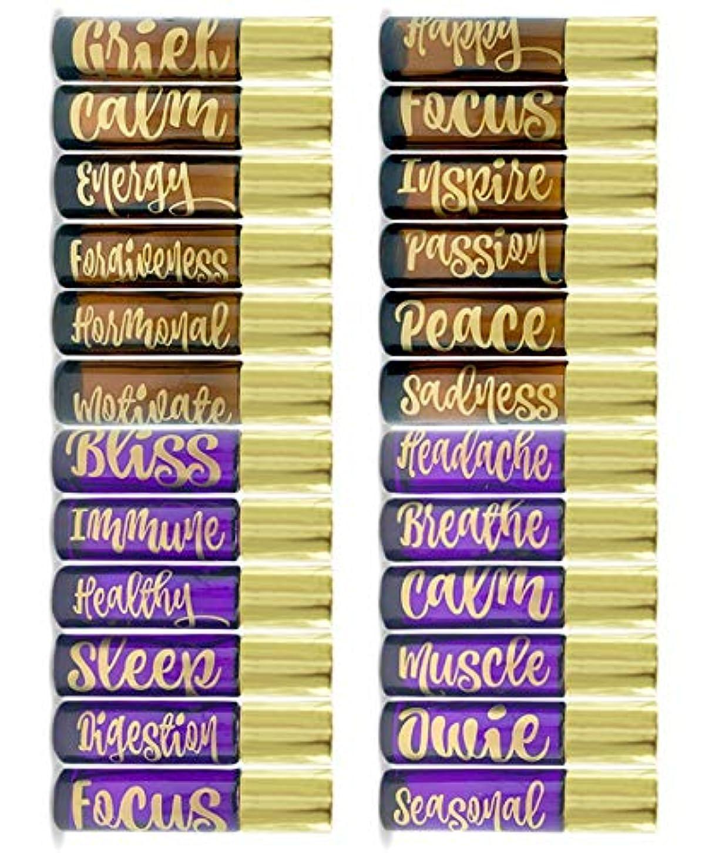 登山家詳細に自殺Got Oil Supplies Vinyl Essential Oil Labels - Fits 10ml Roller Bottles and Boston Round Glass Vials - 24 Blue & Pink, Gold or Silver Bottle Stickers To Choose From (Gold) 141[並行輸入]