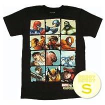 マーベル VS カプコン ボックスグリッドTee/Marvel vs Capcom Boxes T-Shirt Sheer ゲーム・アニメ・コミックTシャツ S【並行輸入】