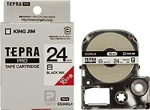 キングジム テープカートリッジ テプラPRO 24mm SS24KL 白