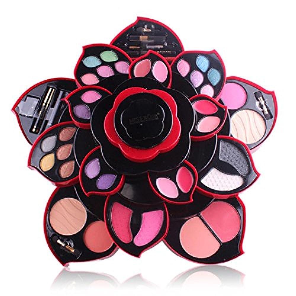 フォアタイプどう?としてビューティー アイシャドー wwkeiying アイシャドウセット ファッション 23色 梅の花デザイン メイクボックス 回転多機能化粧品 プロ化粧師 メイクの達人 プレゼント (02)