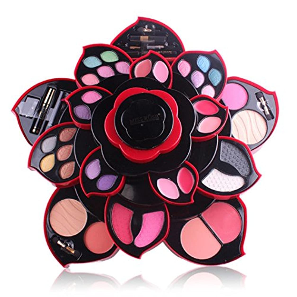 コンプライアンス着実に計り知れないビューティー アイシャドー wwkeiying アイシャドウセット ファッション 23色 梅の花デザイン メイクボックス 回転多機能化粧品 プロ化粧師 メイクの達人 プレゼント (02)