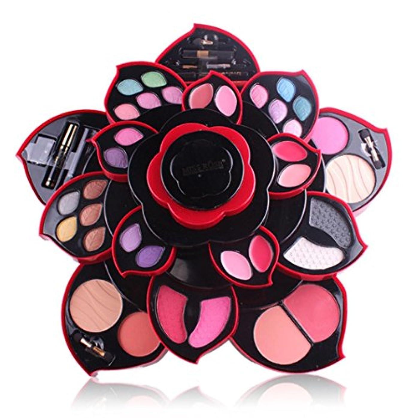 完璧な統合する説教ビューティー アイシャドー wwkeiying アイシャドウセット ファッション 23色 梅の花デザイン メイクボックス 回転多機能化粧品 プロ化粧師 メイクの達人 プレゼント (02)