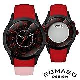 正規品ロゴデザイン・ミラー文字盤腕時計 RM015-0162PL-BKRD BKRD 【1点】