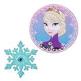 ミノダ アナと雪の女王 ラインストーン付ワッペン小 エルサと雪の結晶-小 D01Y0102