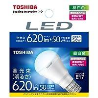 東芝 E-CORE(イー・コア) LED電球 ミニクリプトン形 5.6W (明るさ重視タイプ・密閉形器具対応・断熱材施工器具対応・口金直径17mm・小型電球50W相当・620ルーメン・昼白色) LDA6N-H-E17/S