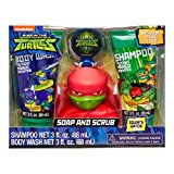 Teenage Mutant Ninja Turtles 4 Piece Soap & Scrub. Shampoo, Body Wash, Bath Scrubby & Hook. Mutant Mango Scented.
