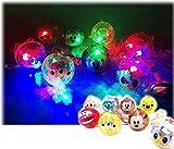 【光る玩具】ディズニー フラッシュボール ペンダント36 入 / お楽しみグッズ(紙風船)付きセット [おもちゃ&ホビー]