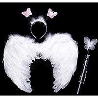 天使コスプレ 天使の羽 ステッキ カチューシャ3点セット (大人用)