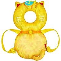 global I mall 可愛いリュック 赤ちゃんのごっつん防止やわらかリュック キッズ 乳幼児用 頭を保護できる 怪我防止 よちよち歩きの赤ちゃんにぴったり (黄色いネコ(メッシュタイプ))