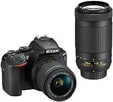 Nikon デジタル一眼レフカメラ D5600 ダブルズームキット ブラック D5600WZBK クリーニング クロス付き