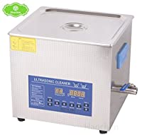 Hanchen 15L 大型超音波洗浄器 デジタル制御 二重周波数 殺菌消毒加熱型 実験用 病院用 Ultrasonic Cleaner (PS-60AD 220V)
