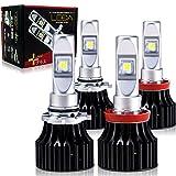 [AutoSite/LEDA] レヴォーグ WRX S4/STi用 ハイビーム HB3専用 5000k &フォグランプ H16 6500k セット 適合確認済 レダ進化版 [レダLA02プラス4球set] 6600lm CREE 一体型 HID超の明るさ