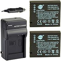 DSTE® アクセサリーキット Panasonic DMW-BCJ13 互換 カメラ バッテリー 2個+充電キット対応機種 Lumix DMC-LX5 DMC-LX7 DMC-LX7GK DMC-LX7W
