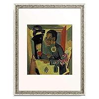 エルンスト・ルートヴィッヒ・キルヒナー Ernst Ludwig Kirchner 「Der Maler. Selbstportrait 1919/1920.」 額装アート作品