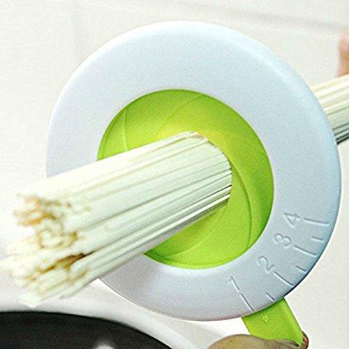 Yiteng 麺 パスタ スパゲッティメジャー 調節可能 1-4人 測定 計量 キッチン ホワイト・グリーン