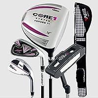 半分PGMゴルフクラブセットゴルフパッケージ--- 1ドライバ、1アイロン、1Sandウェッジ、1パターのガンに包装バッグ