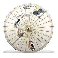 油紙傘、日焼け止めの練習ダンスキャットウォーク傘、古典的な中国風の蓮の傘、インク芸術的な蓮,Color3