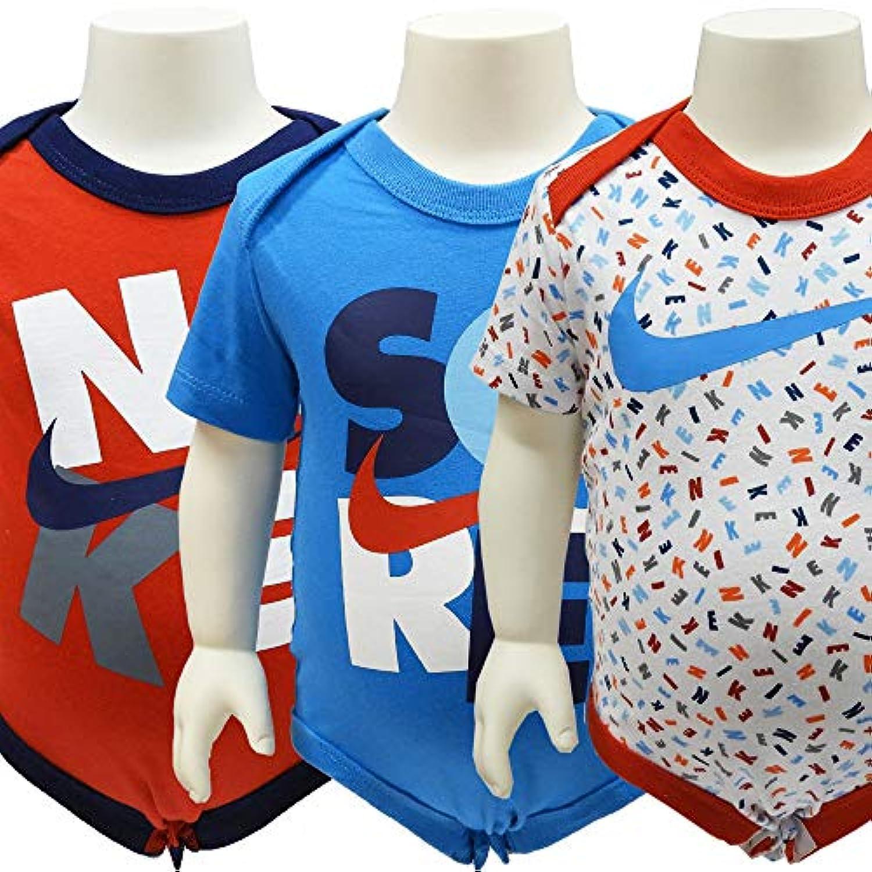 NIKE ナイキ ベビー服 ベビー下着 ロンパース ボディスーツ 3枚セット - カラーA/3/6ヶ月=約65~70cm