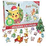 ポケモン ホリデー アドベントカレンダー 子供用 24ピース おもちゃのキャラクターフィギュア16個 クリスマスアクセサリー8個 初回特別版 対象年齢4歳以上