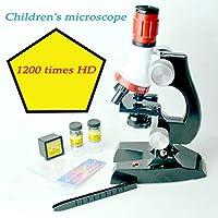 Tichan 幼児教育 1200倍 / 450倍 調節可能なフォーカス 顕微鏡キットおもちゃ教育科学 夏 贈り物 プレゼント好物 女の子 男の子お誕生日プレゼント (450倍)
