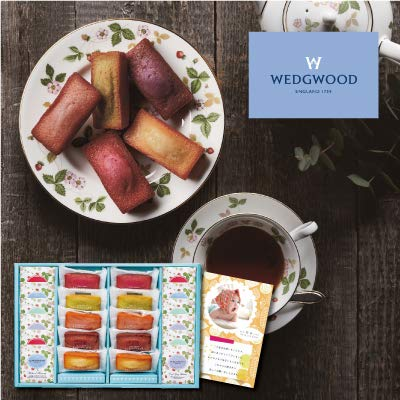 出産 結婚の内祝い(お祝い返し) に 人気のお菓子ギフト フィナンシェ & ウェッジウッド ティーバッグ セット 22個 (AD)軽