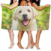 Baby Golden Retriever Beach Towels Ultra Absorbent Microfiber Bath Towel Picnic Mat For Men Women Kids