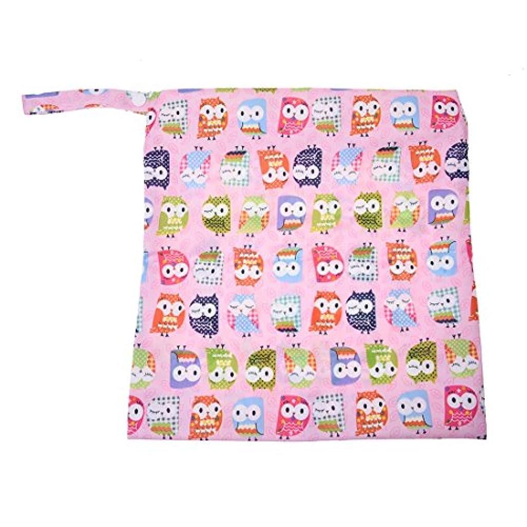 恩恵バックアスリートCUHAWUDBA ベビー、幼児防水ジッパー付きなおむつ袋 再利用可能 ピンク