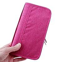 JIOLK パスポートケース パスポートウォレット カードケース 航空券対応 海外旅行 パスポートカバー カード チケット 収納ケース カバー 旅行便利グッズ スキミング防止 ビジネス 多機能 大容量