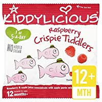 KiddyliciousラズベリーCrispieのTiddlersの12グラム (x 4) - Kiddylicious Raspberry Crispie Tiddlers 12g (Pack of 4) [並行輸入品]