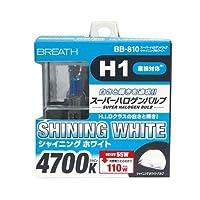 ベイテックス スーパーハロゲンバルブ H1 シャイニングWH H1 4700K BB-810(2個入)
