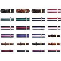 New Daniel Wellington Nylon Type Strap Band 18Mm || DW 36Mm Watch || Genuine DW Navy White Red - 5 Stripe
