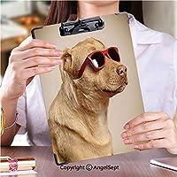 印刷者 クリップボード 用箋挟 クロス貼 A4 短辺とじ 答案用紙入れおかしい犬 (2個)
