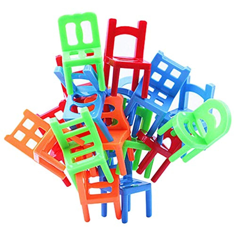 子供用おもちゃ、子供用パーティー玩具、積み重ね用おもちゃ、18ピースの子供用インタラクティブなアソートバランシングチェアゲームパーティーのお土産積み重ね玩具、パイロットアップサスペンションファミリーボードゲーム。