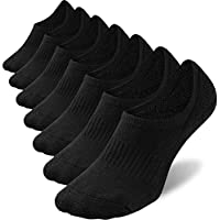 No Show Socks Mens 7 Pack Cotton Thin Non Slip Low Cut Men Invisible Sock 6-11/10-12