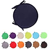 RAILONCH 2/4 Pack Chair Cushion, Round Chair Pads with Ties for Dining Kitchen Patio Outdoor Seat Cushions,15X15in Seat Cushi