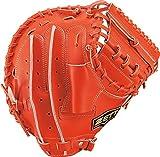 ゼット(ZETT) 少年野球 軟式 キャッチャーミット ネオステイタス 右投げ用 ディープオレンジ(5800) BJCB70012