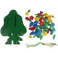 SONONIA 子供 おもちゃ 木製 フルーツツリー スレッド ビーズおもちゃ パズル 知能玩具