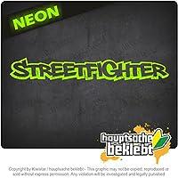 ストリートファイター Streetfighter 20cm x 3cm 15色 - ネオン+クロム! ステッカービニールオートバイ
