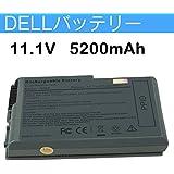 Dell Latitude D520 D530 D600 D610 対応 6cell 11.1V 5200mAh 交換バッテリー 並行輸入品