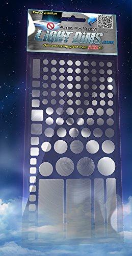 LightDims 減光シール(シルバー) - メタリック、アルミニウム色の電子機器、電気製品用LED減光シール 80〜9...