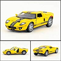ハイシミュレーション1:36スケールフォードgtスポーツカーモデル合金プルバック車モデルおもちゃ2オープンドア卸売