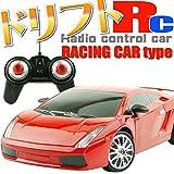 【 1/24 ドリフト 走行!  光る R/C レーシング カー ラジコン  交換用 タイヤ 付き 】 RC ランボルギーニ ガヤルド タイプ ( Lamborghini Gallardo ) レッド