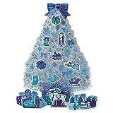 サンリオ クリスマスカード 洋風 ライト&メロディ 青ツリーにトナカイと小物  S6307