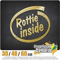Rottie inside - 3つのサイズで利用できます 15色 - ネオン+クロム! ステッカービニールオートバイ