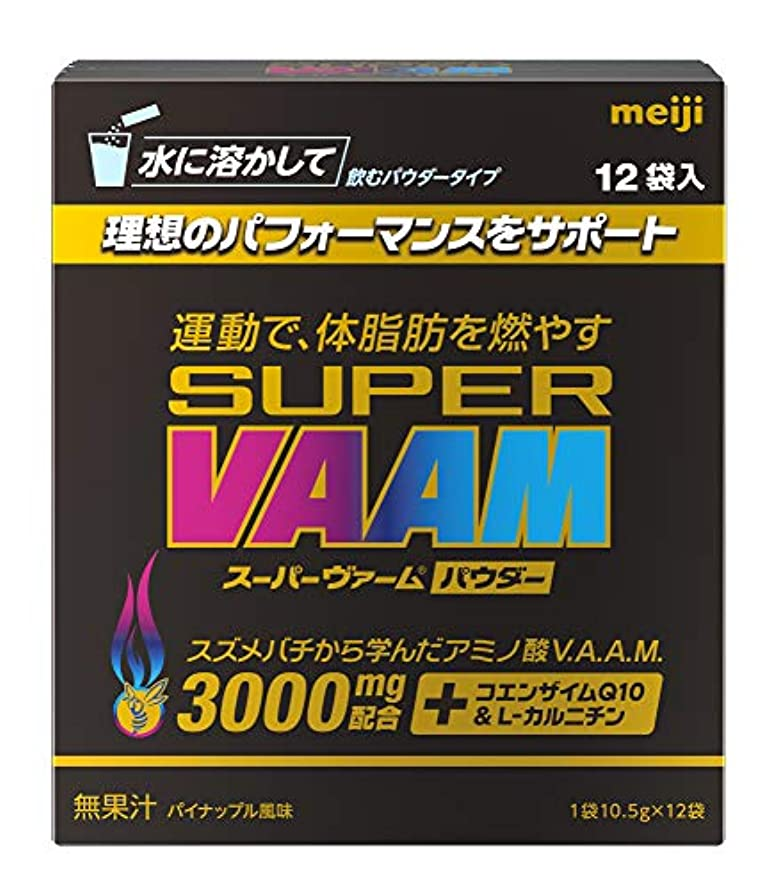 含めるアイスクリーム写真撮影明治 スーパーヴァームパウダー パイナップル味 10.5g×12袋