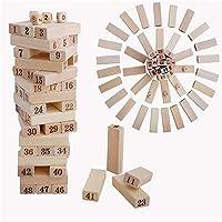 ベビーおもちゃ、子供の教育玩具、脳を発達させる 木製ボードゲーム大一次48粒の高品質のホットスタンピングデジタル折り畳み親子のゲームのレイヤー