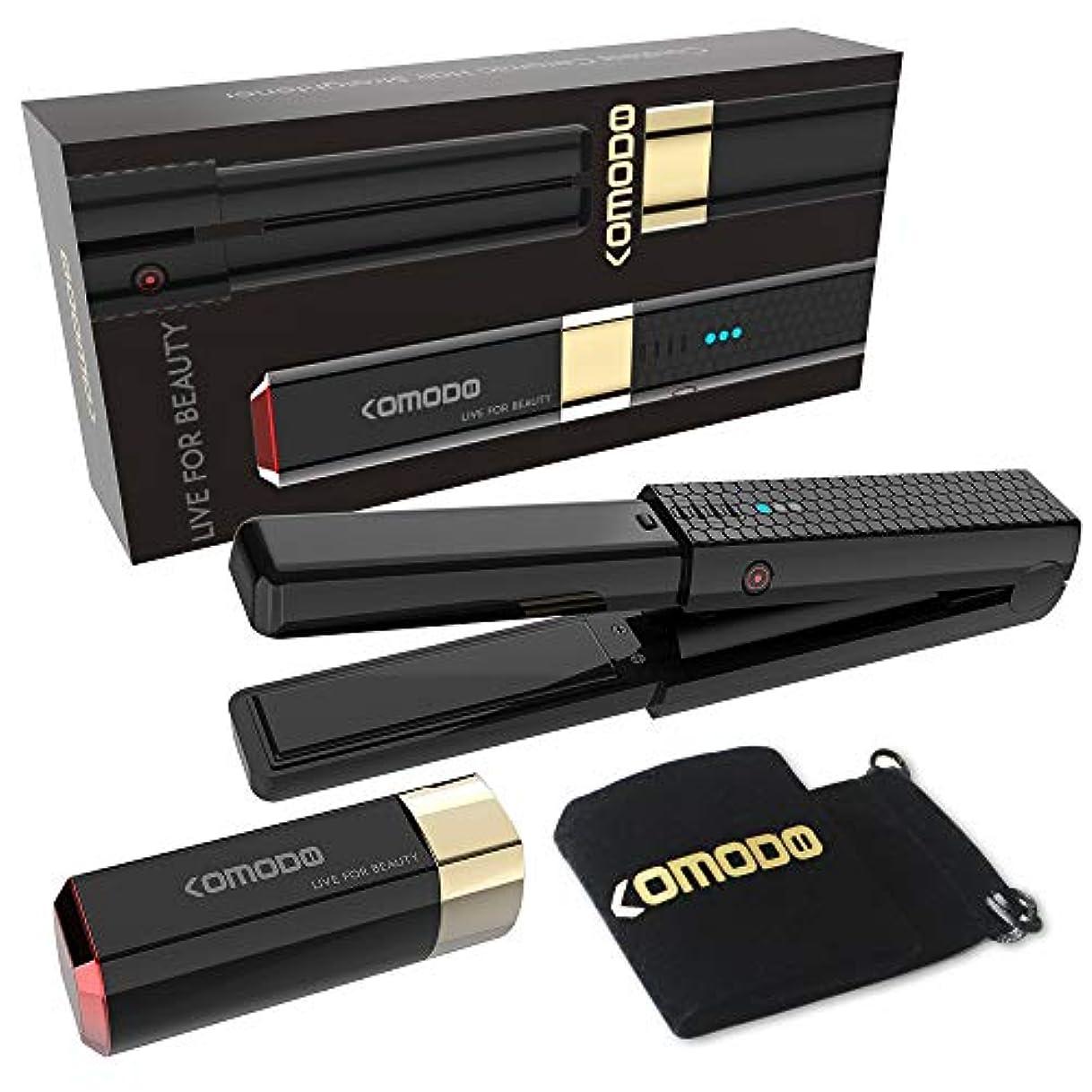 何でもクライストチャーチクライアントヘアアイロン ストレート&カール 2ways コードレス 海外対応 マイナスイオン セラミックコーティング USB充電式 コンパクト キャップ付き 持ち運び便利 家庭用 旅行用 【メーカー保証】